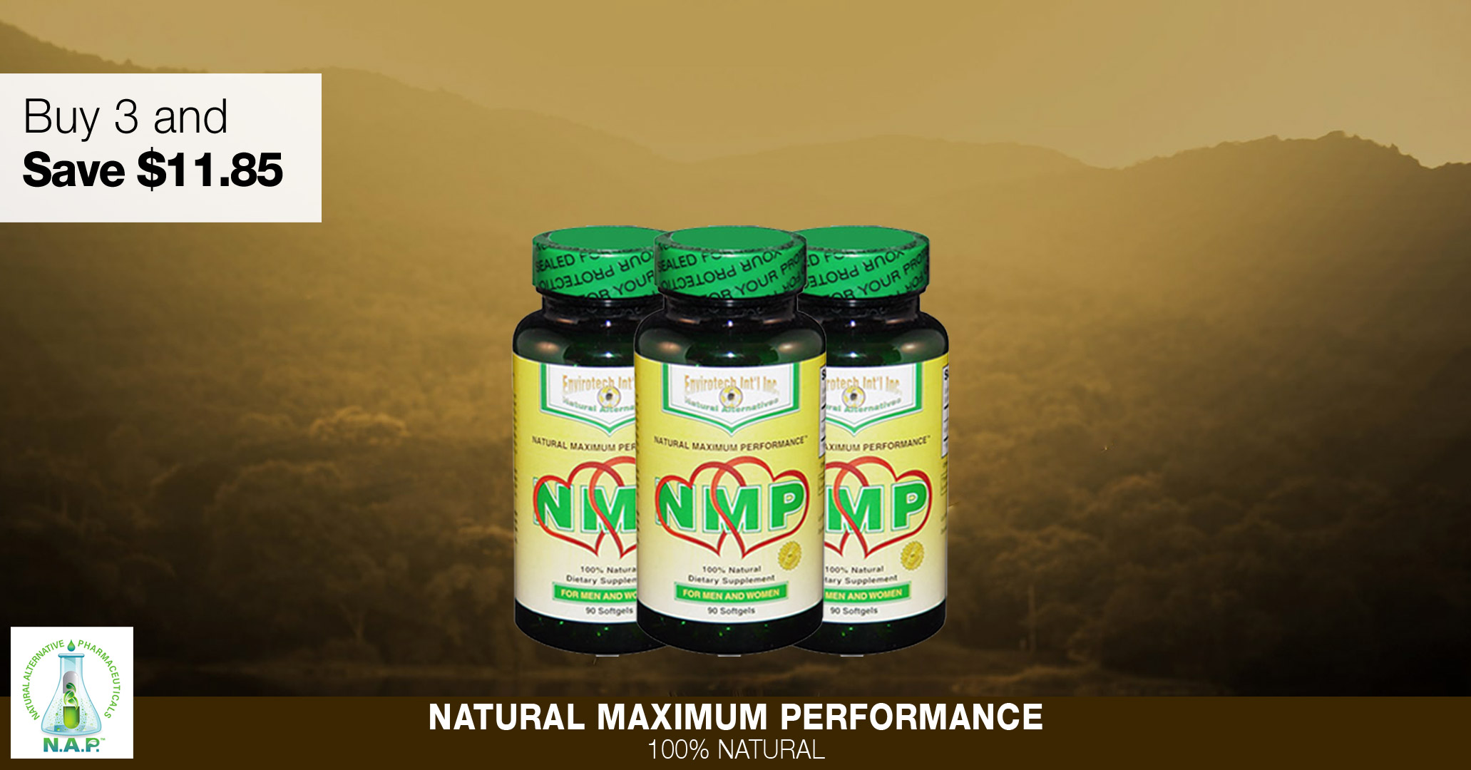 Buy 3 Bottles Of NMP Online And Save $11.85.