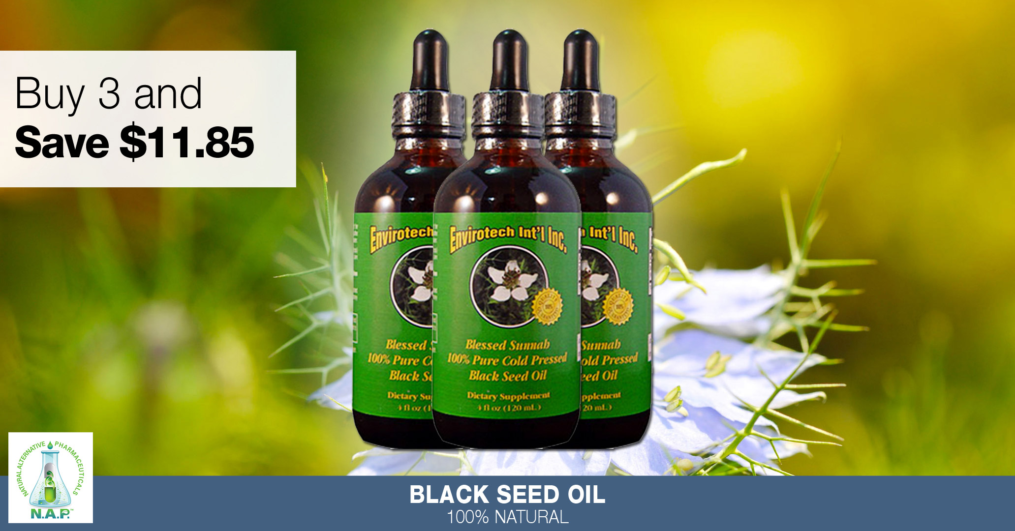 Pure Black Seed Oil Special.